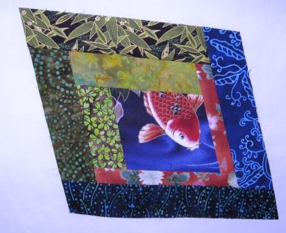 Cathy tomm quilts fish pond more blocks for Koi pond quilt pattern