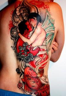 Back Symbol Fish Tattoo