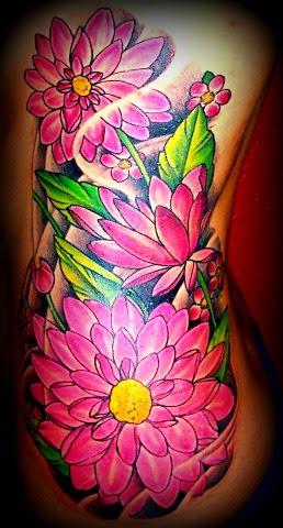 Wong Tattooan Designing Flower Rib Tattoo Designs