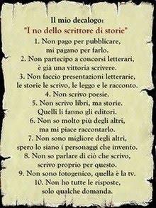 """I """"no"""" dello scrittore di storie"""