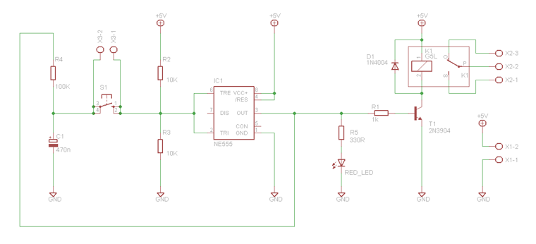 electronic circuits  toggle on    off switch