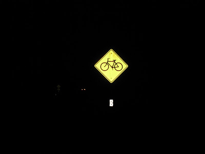 dark bike sign