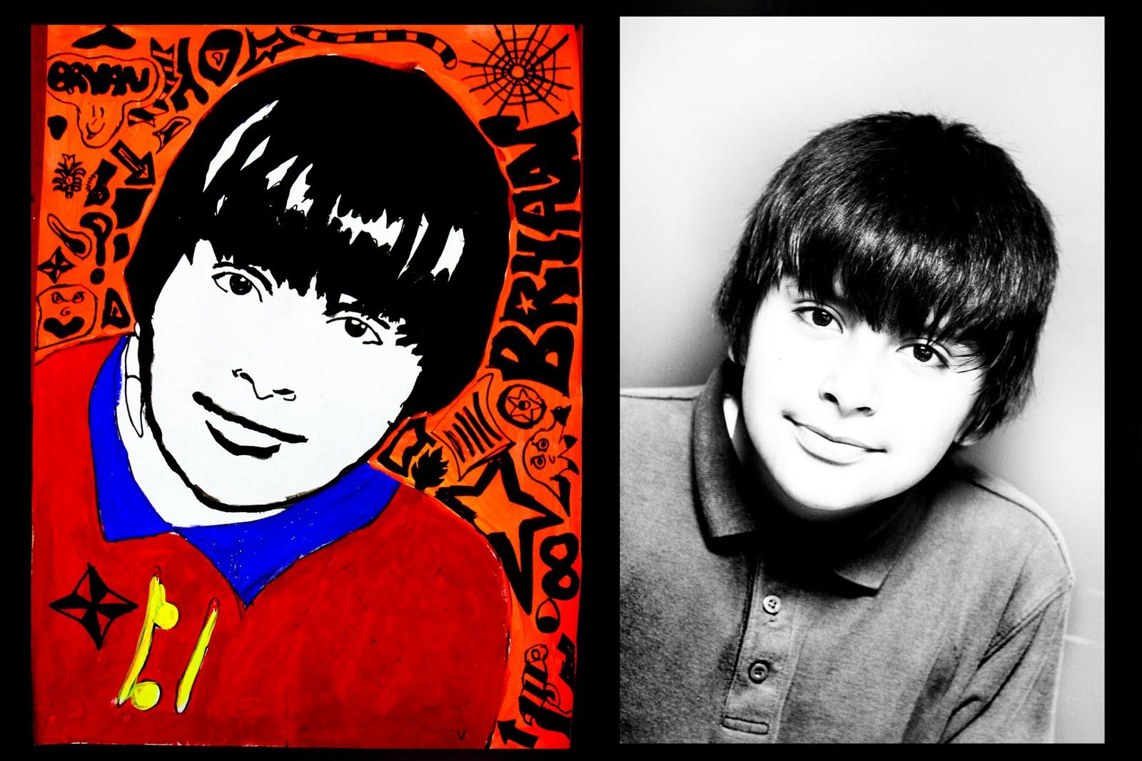 smart class 5th grade self portraits