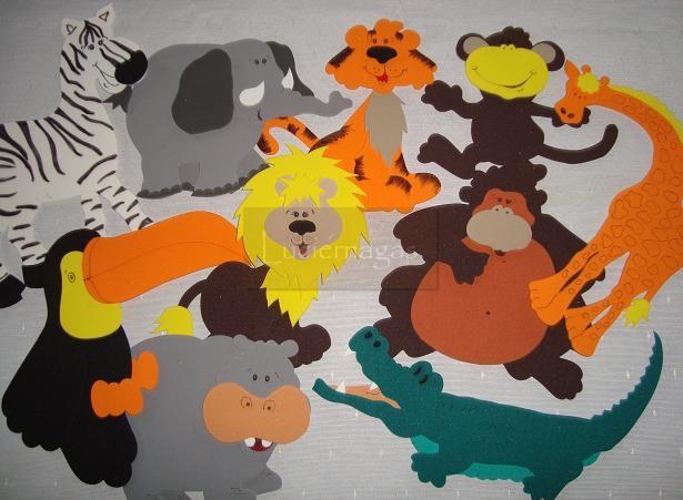 LUCIERNAGAS - Todo en Goma Eva -: Kit de Animales de la Selva