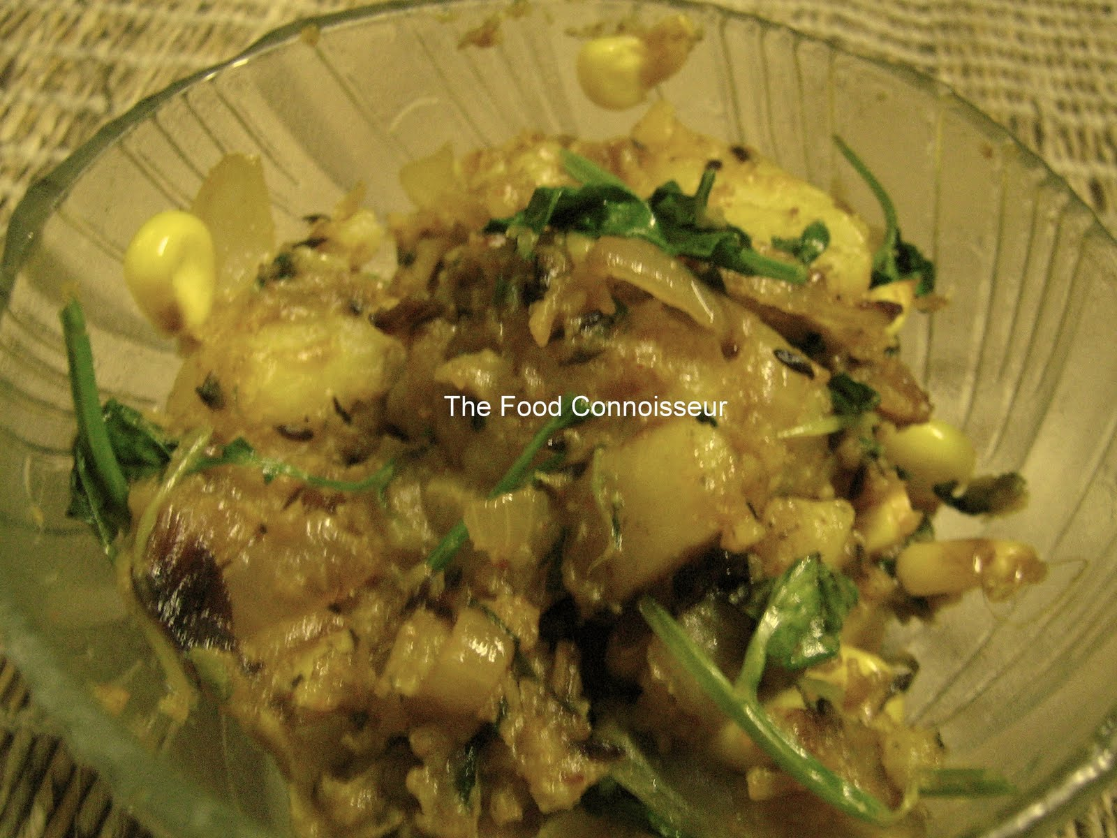 The Food Connoisseur: Aloo Methi (Potatoes with Fenugreek Leaves)