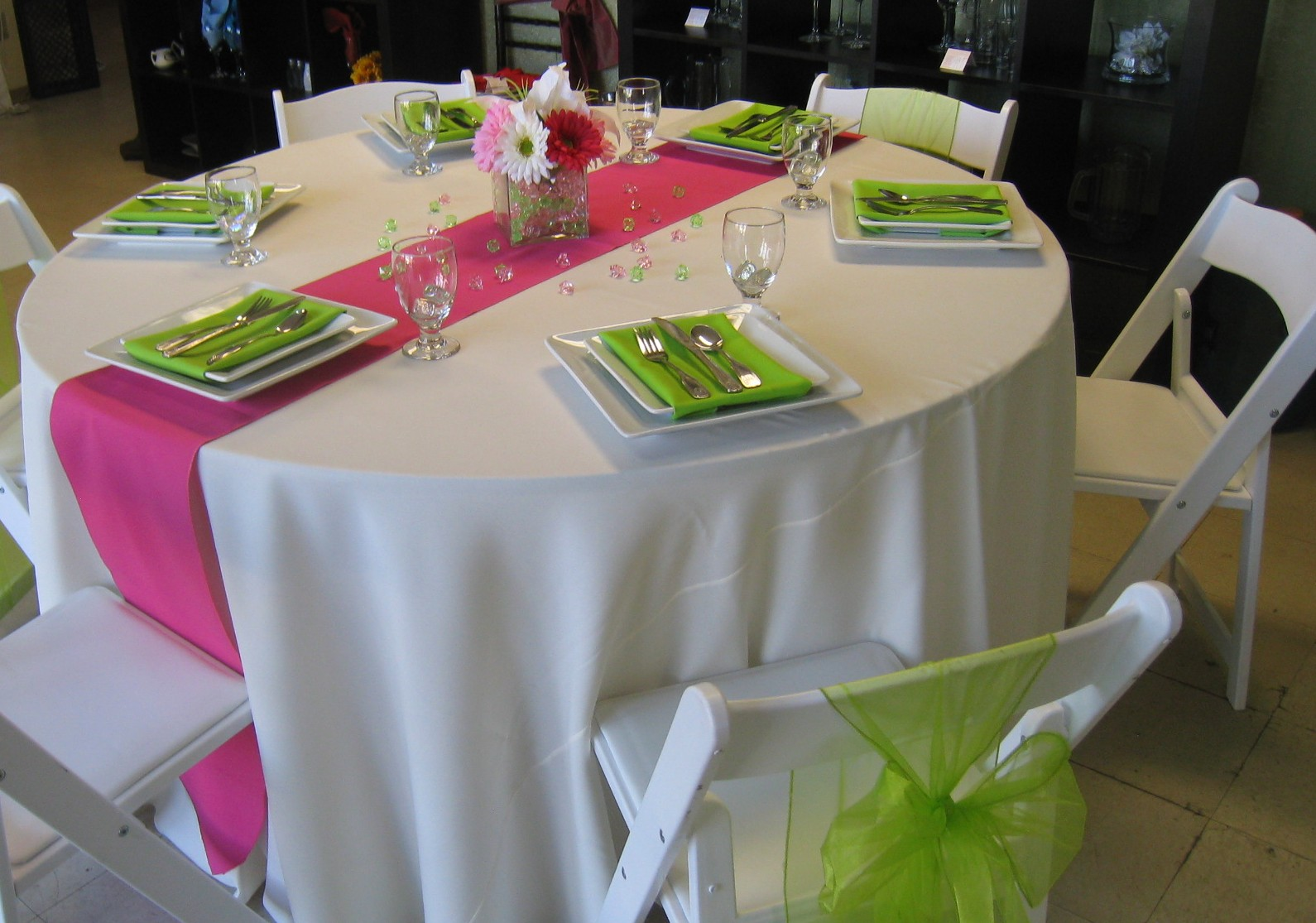 Party productions spring table ideas for Table decoration ideas