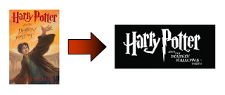 Harry Potter and the Deathly Hallows book and movie