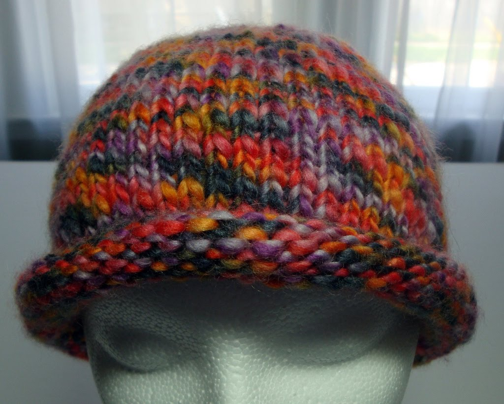 Knit Hat Pattern Free Brim : What Karen Knits: Roll Brim Hat