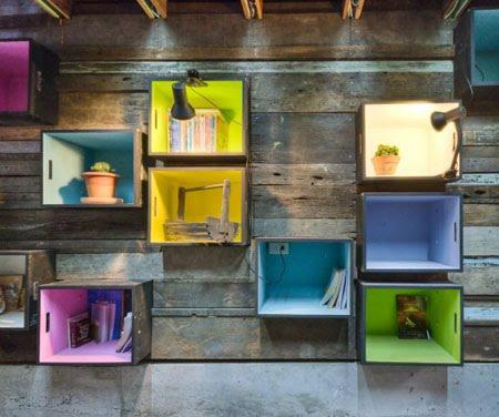Y un poco de dise o reciclar cajas de fruta - Decorar reciclando muebles ...