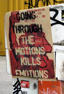 pure evil going through the motions kills emotions