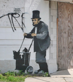 banksy abe lincoln