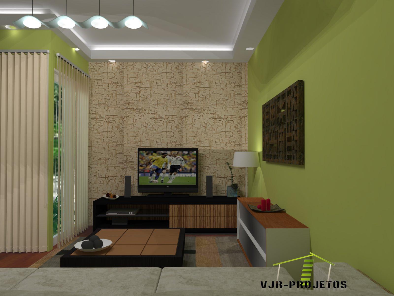 Sala TV / Sala Conjugada com Sala de Jantar / Sketchup   V ray #92AB20 1600 1200