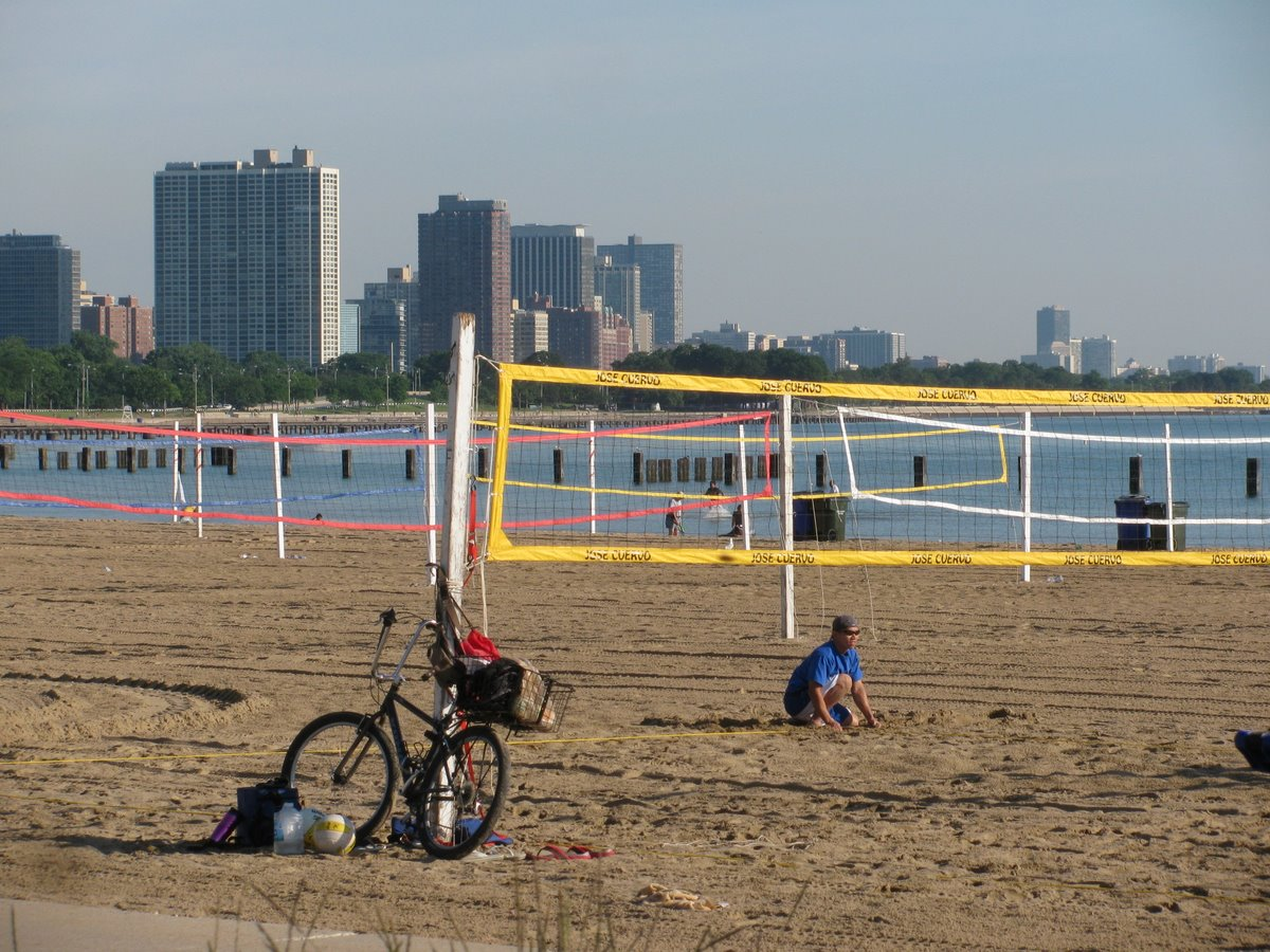 Gravel Beach North Avenue Beach - Chicago map north avenue beach
