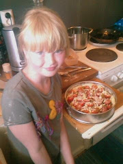 Elsa making her first pie