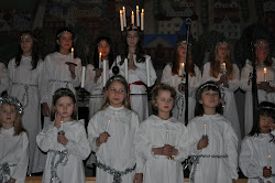 Lucia celebrations in Ulricehamn