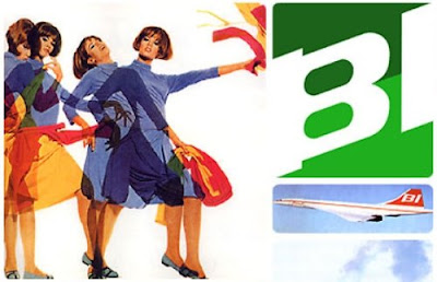 Braniff Airlines Trippy Flight Attendant Attire Designed by Emilio Pucci