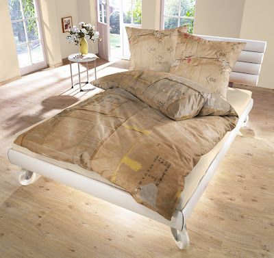 Fake Cardboard Duvet by Le Clochard