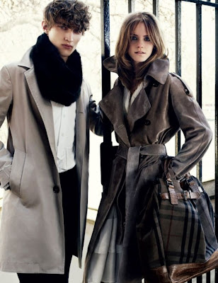Emma Watson for Burberry Fall 2009 Campaign by Mario Testino