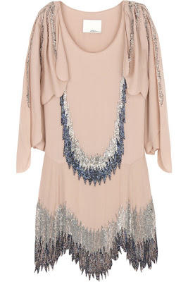 3.1 Phillip Lim Beaded Silk Flapper Dress