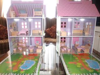 interior de casa de muñecas infantil