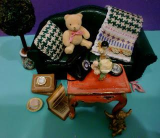 conjunto de miniaturas para casa de muñecas
