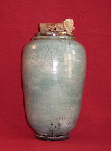Lidded Vessel with Deer Antler