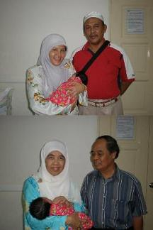 Grandparents receiving Nur Hanan Zahra