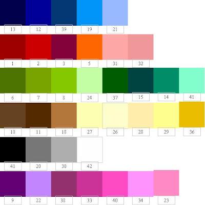skema warna di atas merupakan koleksi warna jilbab albada walaupun ...