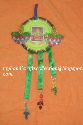 wall hangings from waste material for kids VARALAKSHMI POOJA CRAFT ...