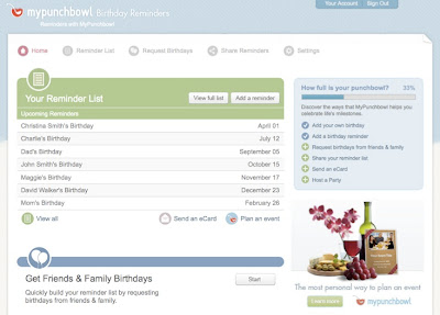 Well, MyPunchBowl now offers free birthday reminders.
