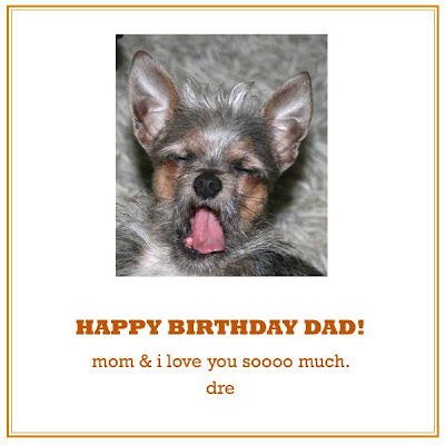i made birthday card for dad too. which was this: