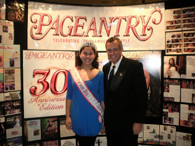 National American Miss Preten, Erika Porras swings by the Pageantry Magazine booth to lend a hand and takes time out to pose with EDITOR IN CHIEF, Carl Dunn