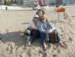 Disfrutando una rato de la playa