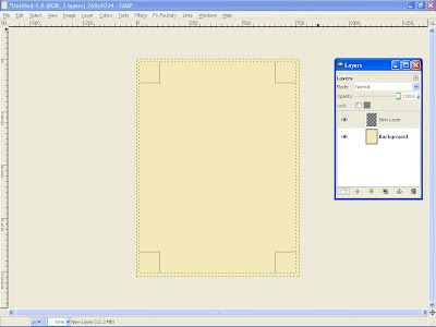 how to draw a rectangle in gimp