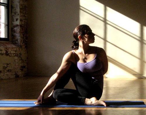 yoga stretches  spinal twist