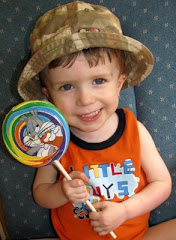Matthew (3 1/2 yrs old) with the Worlds Biggest Lollipop