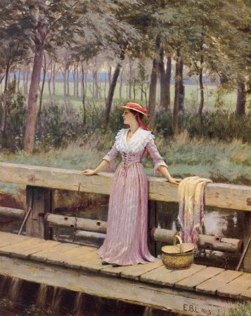 Home Living Edmund B Leighton A Brush With Refinement