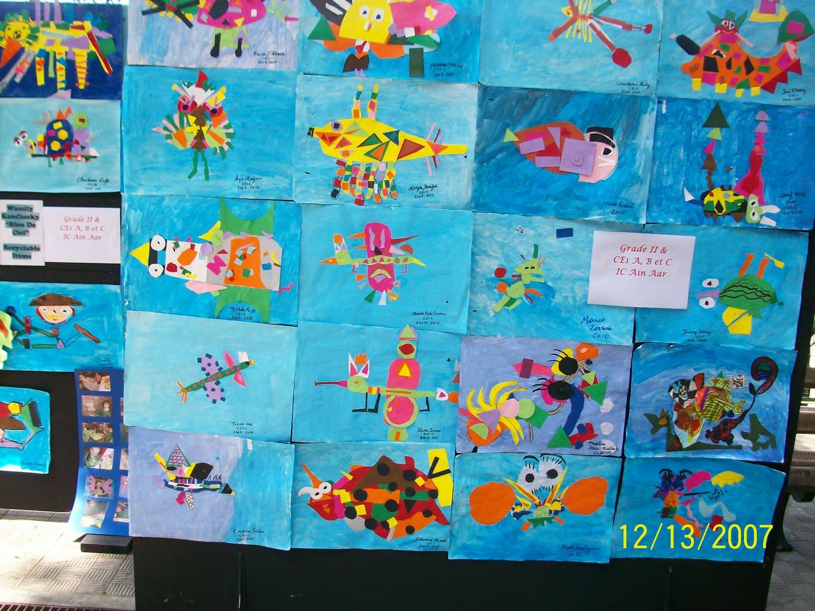 Grade II and CE1 classes at IC AA: 2009-2010 Bleu De Ciel, Wassily ...