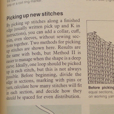 Picking Up Stitches When Knitting : Same Knit Different Day: Pick up lines
