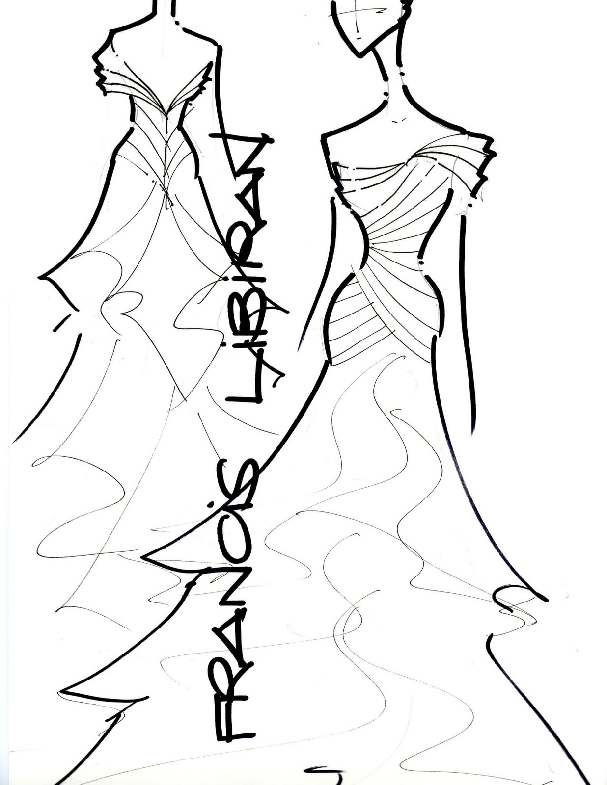 Bridal Gown Sketches by Francis Libiran | M\'s PHOTOLOG
