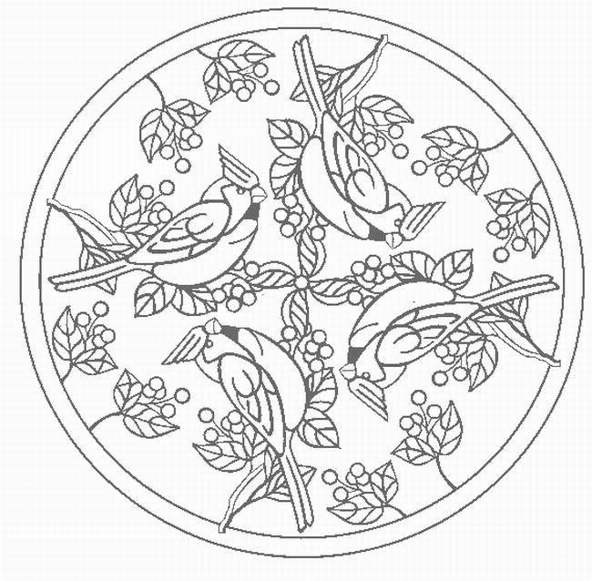 Mandalas Para Pintar: mandalas gorriones