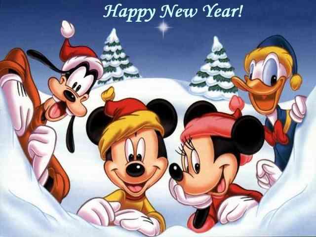 disney new year cards