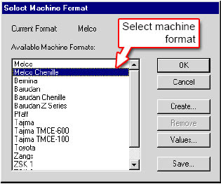 Changing Machine Formats