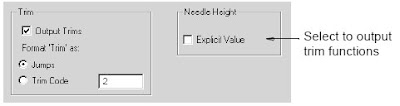 Selecting explicit needle height