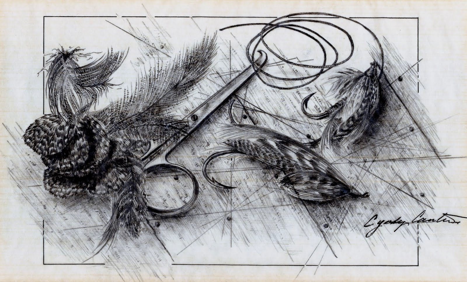 Fly fishing fly drawings - photo#14