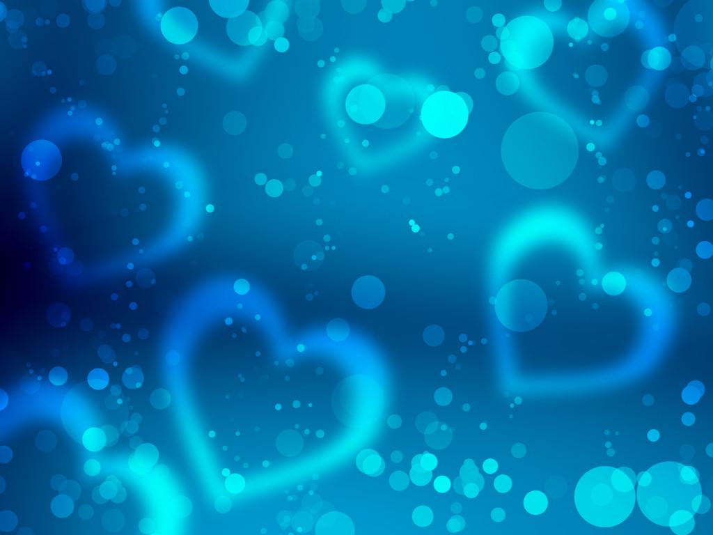 Hartjes Achtergronden | HD Wallpapers Blue Heart Wallpapers