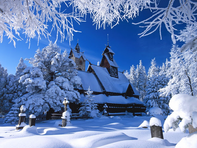 hd nature wallpapers_31. A church in the winter