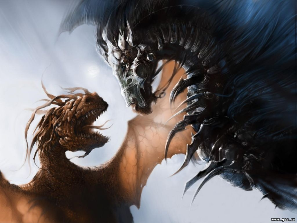 Dark Wallpaper Dragon In Flames Two Symbols