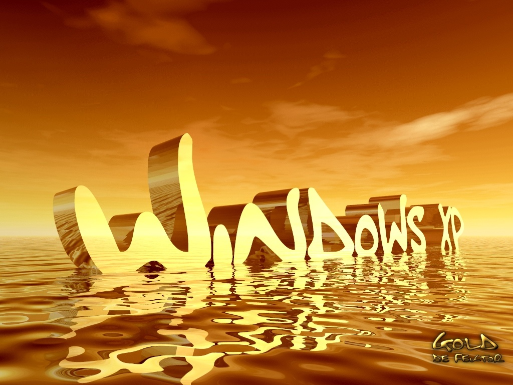 Windows XP In Water Desktop Background