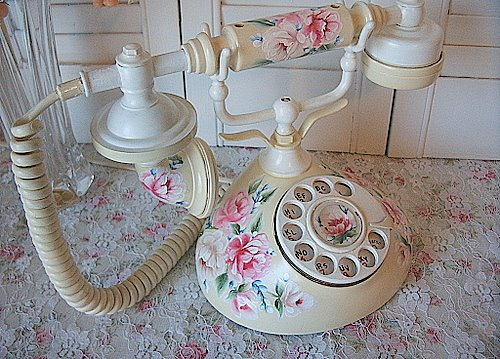 Handpainted Vintage French Phones